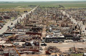 Aftermath of the Greensburg, Kansas tornado in 2007.