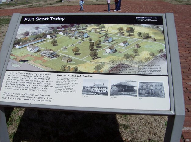 Information Placard of Fort Scott Today