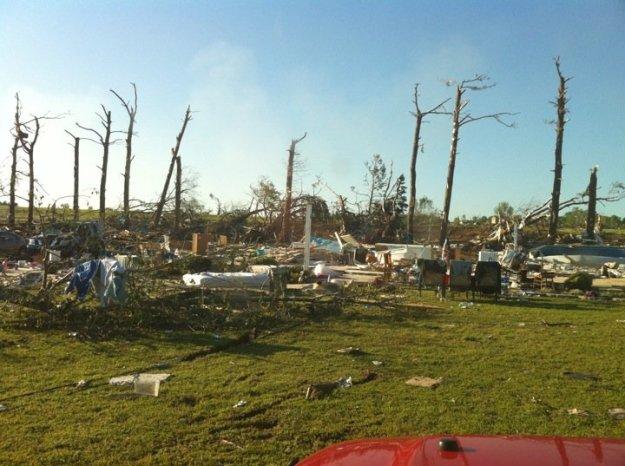 Weaver House After Tornado
