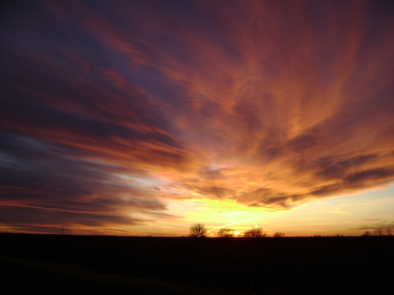 Sunset in Silkville, Kansas