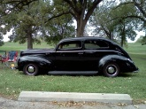 My favorite car, a Ford Deluxe. So simple yet so stylish, it looks fast even when it's parked.