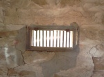 The only source of light in the jail was this little window on the south wall.