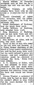"A sampling of prospective jurors from the second trial. From ""Accept Two Jurors,"" Emporia Gazette, May 6, 1926."