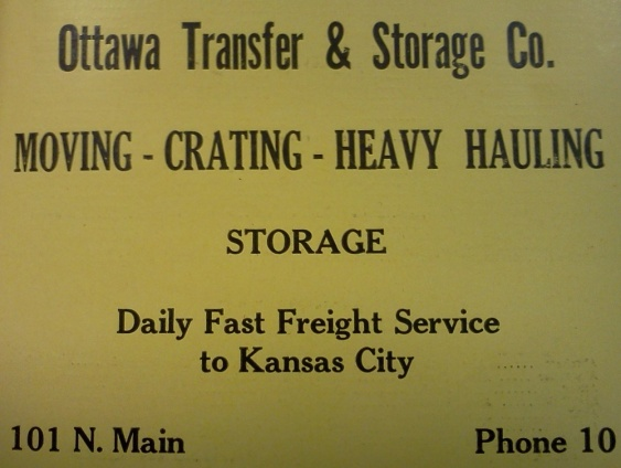 Ad from the 1936 Polk Directory for Ottawa, Kansas.