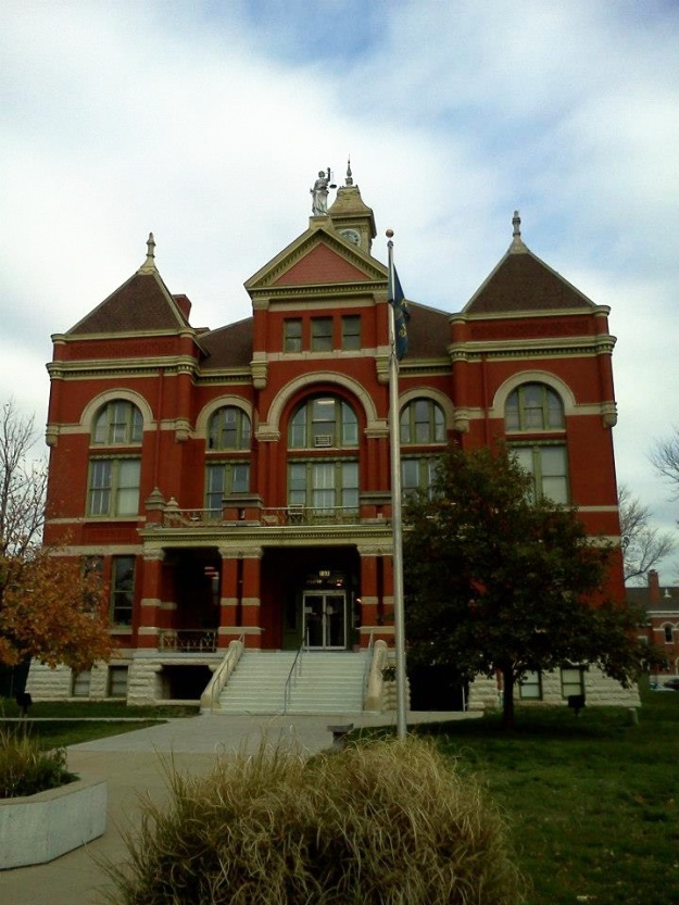 Still standing, the Franklin County Courthouse was built in 1893 and designed by prominent Ottawa, Kansas architect George P. Washburn.