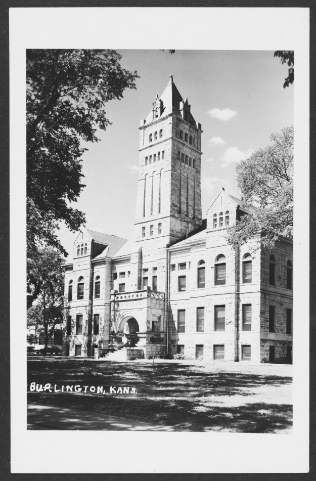 Coffey County's second courthouse was completed in 1901. John Knoblock's first trial was held here. Photo from the Kansas Collection at the Spencer Research Library at the University of Kansas.