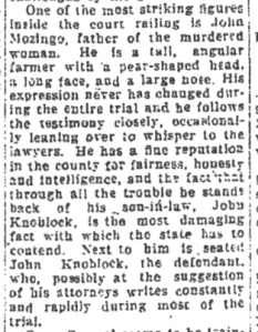 Bill White's description of John Mozingo ran in the January 19, 1926 Emporia Gazette.
