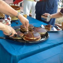 Apple-stack cakes were served during the Glorious Fourth celebration.