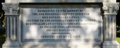 Quantrill's Raid memorial (detail).