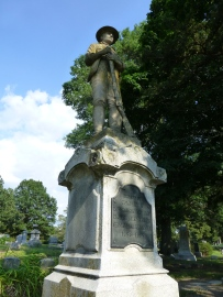 Oak Hill Cemetery Spanish American War Monument Front