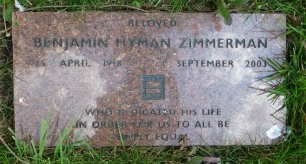Benjamin Hyman Zimmerman was involved with organizations that promoted equality among people of different backgrounds.