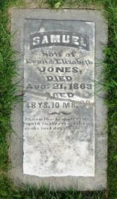 Samuel Jones, killed in the Lawrence Massacre.