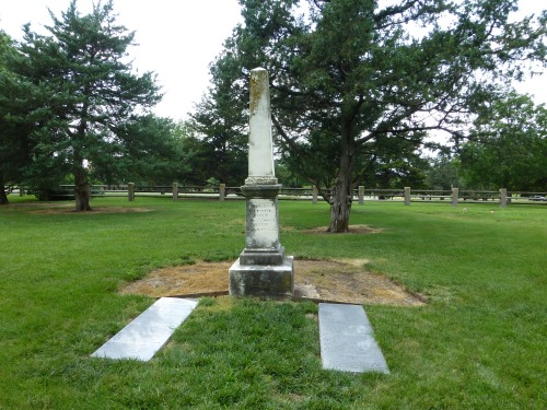 Pioneer Cemetery Thomas W Barber monument and poem
