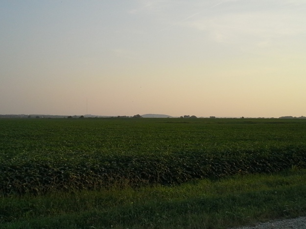Blue Mound from the northeast.