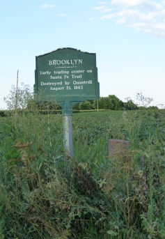 Brooklyn, once a stop on the Santa Fe Trail until it was burned down by Quantrill.