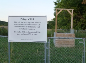 Palmyra Well, once a major watering stop on the Santa Fe Trail.