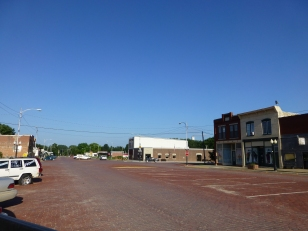 Today, the Santa Fe Trail is an extra-wide brick-paved road in Burlingame.