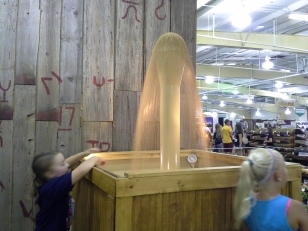 A fountain of wheat in the Pride of Kansas Building.
