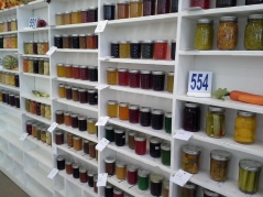 Preserves awaiting judging in the Domestic Arts building.