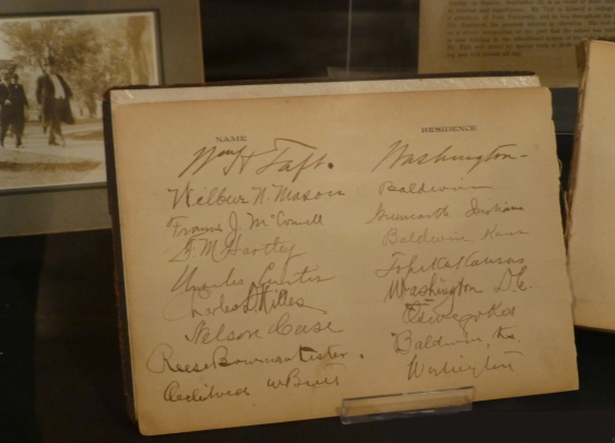 Famous signatures: President Taft and Senator Charles Curtis.