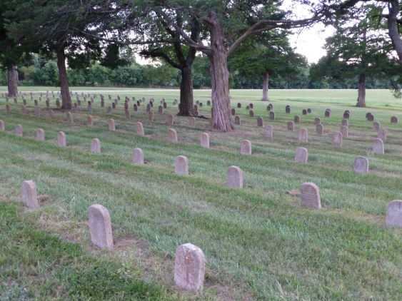 Osawatomie State Hospital Burial Ground, facing southwest.