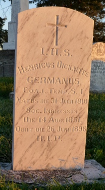 Latin epitaphs reveal the international origins of the Jesuits who served St. Marys.