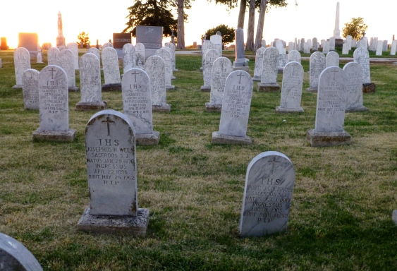 Mount Calvary Cemetery is the final resting place for many of the Jesuits who served the Pottawatomie community in the 1800s.