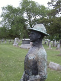 maplewood memorial lawn MAY 17 Favorite Stones Doughboy figure closeup