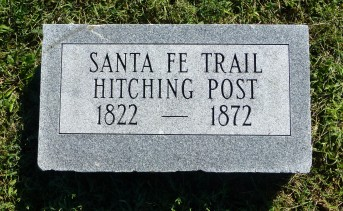 A marker in Overbrook Cemetery commemorates a Hitching Post. The cemetery rests right on the old trail.