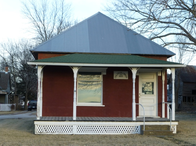 Coal Creek Library was founded in 1859 and was considered the oldest continuously operating library in Kansas and was run by the oldest continuously working woman in Kansas.