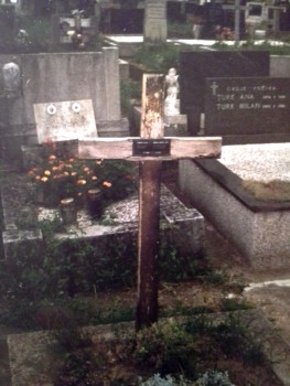 The only photo I have of my grandfather's simple grave. Ivica Mikan died in 1959.