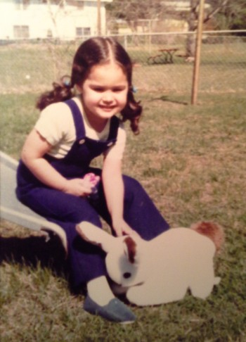 Can't you just see the potential in my three-year-old self? Side note: I still have the bunny. His name is Zeko (Croatian for bunny.)