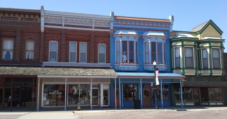 The brick streets of downtown Fort Scott are lined with historic buildings.