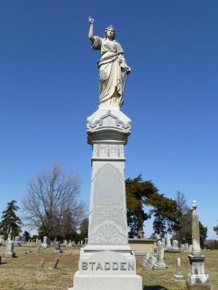 The Stadden family monument at Evergreen Cemetery in Fort Scott.
