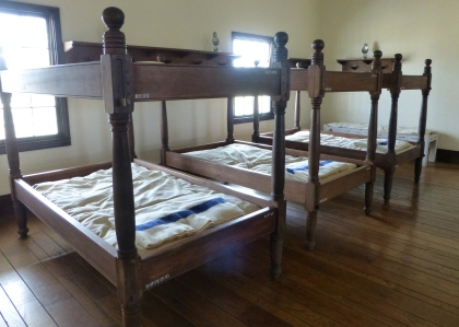 The beds seem spacious until you realize they're sleeping two to a bunk.