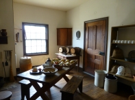 The kitchen attached to the mess hall in the Dragoon Barracks.