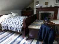 A bedroom in the Officers' Quarters.
