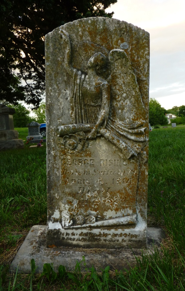 Headstone for George Rising, 1814-1884.