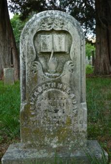 Headstone for Elizabeth Holaday, 1797-1874.