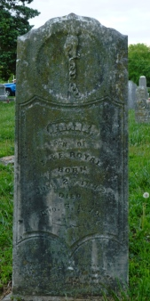 Headstone for Frank Royal, 1842-1870.