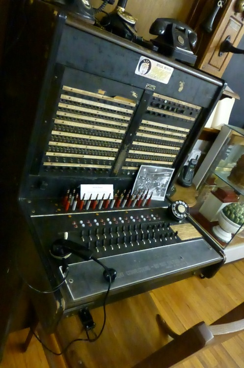 A telephone switchboard that was once in use in Franklin County.