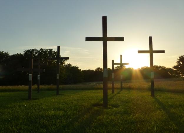 Memorial crosses