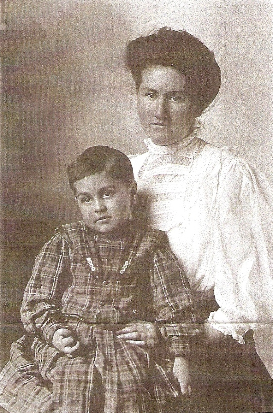 Lizzie and her baby brother, John.