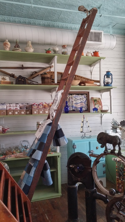 The rolling ladder at the New Lancaster General Store.