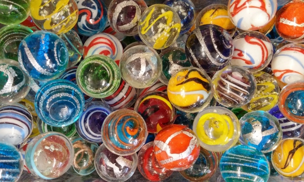 You'll find bins and bins and bins of beautiful marbles at Moon Marble Company.