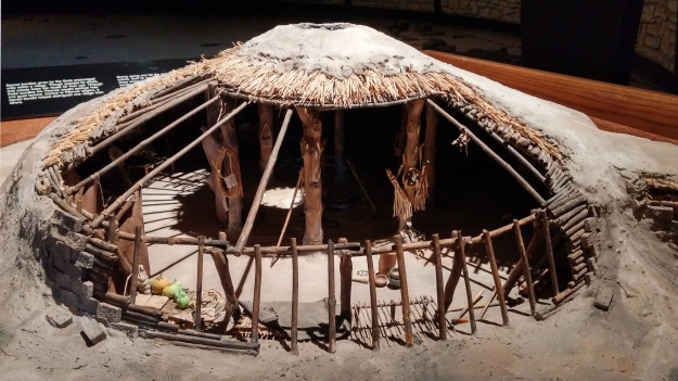 Pawnee Indian Village Scale model