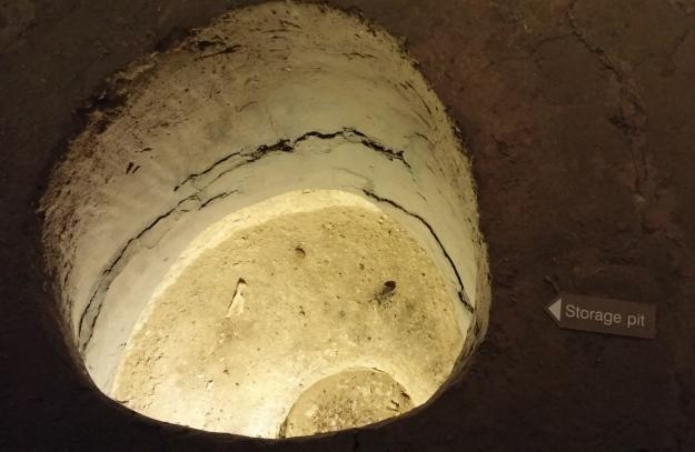 Earth lodge storage pits were very deep.